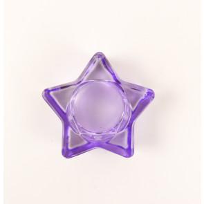 Svícen na čajovou svíčku hvězda - fialový
