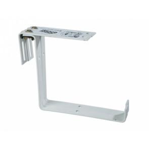 Držák truhlíku kovový stavitelný 2ks bílý