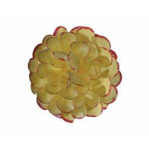Jiřina POMPONKA 8cm žlutočervená