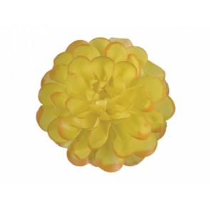 Jiřina POMPONKA 8cm žlutooranžová