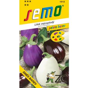 Lilek vejcoplodý- směs barev 30s - série PALETA- osivo