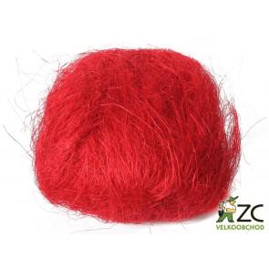 Sisalové vlákno 30g červené ZC