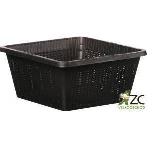 Koš na vodní rostliny - hranatý 19x19x9cm (TZ103)