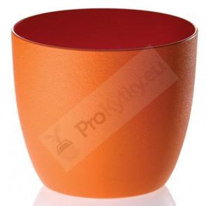 Obal na květináč Milano 11cm (oranžový) RYNE