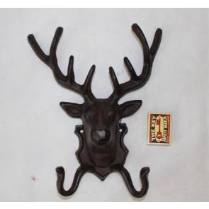 Háčik jelenie hlava liatina 25x21x10cm