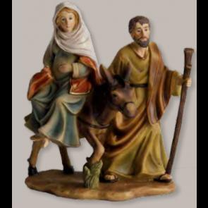 Blok figúr panna Márie na koni tehotná 12-13cmx13,6cm