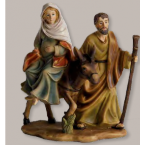 Blok figúr panna Márie na koni tehotná 16-17x18,5cm