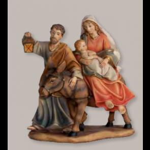 Blok figúr panna Márie na koni s dieťatkom 9cmx10,4cm