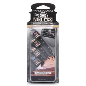 YANKEE CANDLE kolíčky do auta - Black Coconut 4ks