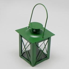 Lucerna kov 7x7x10cm zelená