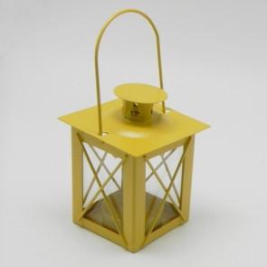 Lucerna kov 7x7x10cm žltá