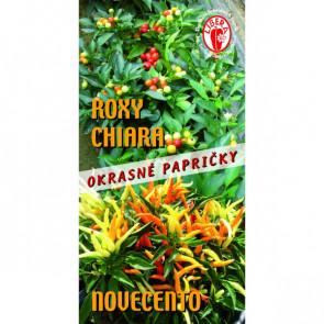 Papričky okrasné Roxy, Chiara, Novecento pálivé chilli