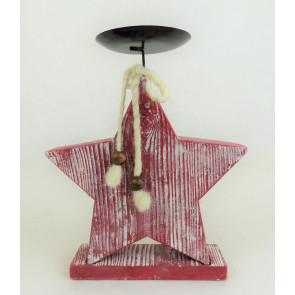 Hvězda svícen červená 28cm
