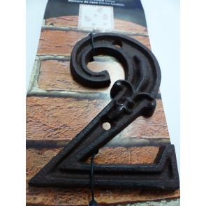 Domové číslo liatina - 2