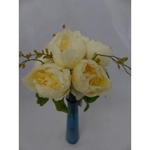 Umelý kvet kytice Pivoňka žltá