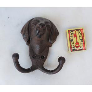 Háčik psia hlava liatina 12x10x5,5cm