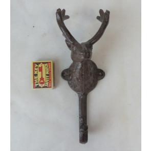 Háčik jelenie hlava liatina 22x9x8cm