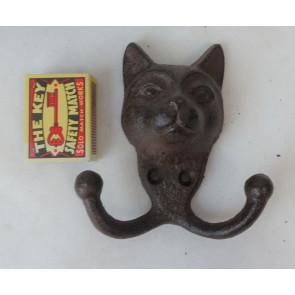 Háčik mačacie hlava liatina 11x11x4cm