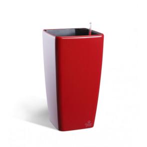 Samozavlažovací květináč QUADRATO 18x18x34cm červená