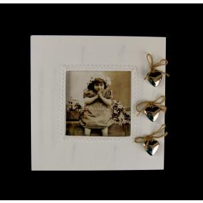 Bílý rámeček na fotku na zavěšení velký