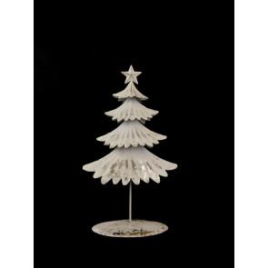 Stromek plechový bílý, velký