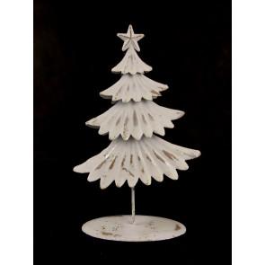 Stromek plechový bílý, malý