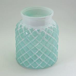 Svietnik sklo pr.13,5xv16,2cm zelená