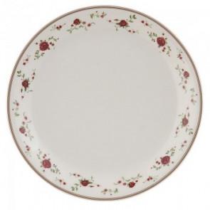 Dezertní talíř 20 cm, bílý, kvítky