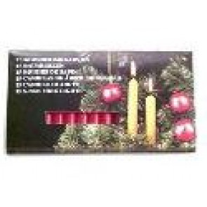 Vianočné sviečky sada 15 kusov, biela